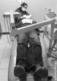 """Paul """"in the chair"""" at Dr.Eva Urena"""