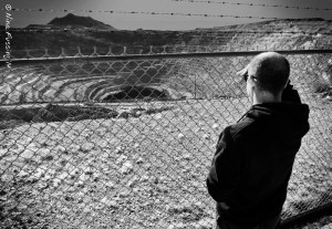 Paul peers into the massive Cornelia Pit Mine