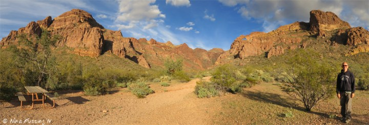 Panorama near Arch Canyon
