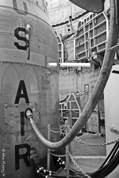 Fuel hose attached to the Titan II body