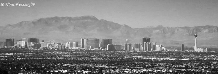 Panorama of the famous Vegas Strip