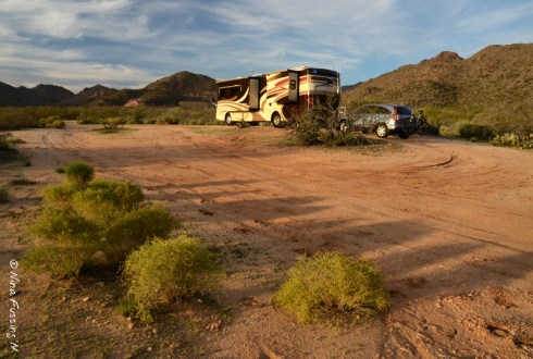 Our relaxed site on Ghost Town Road