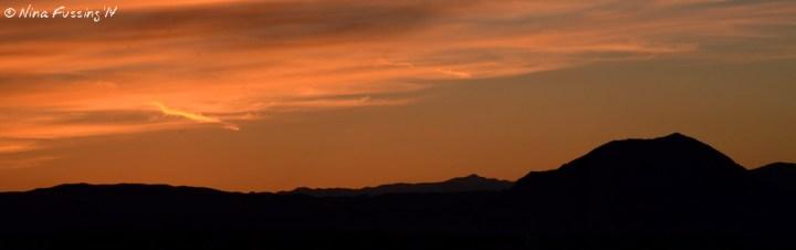 A deep sunset