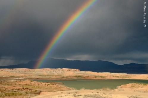 A blazing, amazing double rainbow!!