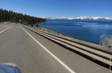 The glorious deep blue of Lake Tahoe