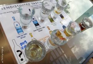 The excellent sampler at Bend Distillery