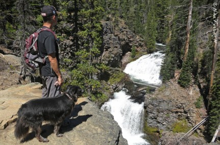 At the second falls on North Fork Trail
