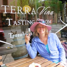 """I """"may"""" have been slightly sloshed by this point. At Terra Vina Tasting Room."""