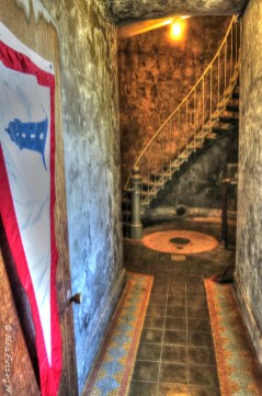 HDR of the hallway into the tower