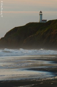 The lighthouse beams her sunset goodnight