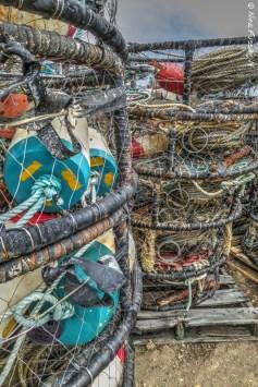Crab pots piled high and deep