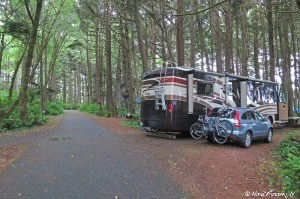 View of our rig in wooded B-loop. We're in site B16.