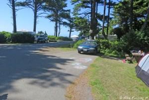 View down end of D-loop. Car in site D38.