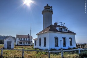 She may be old, but she's pretty. Point Wilson Lighthouse