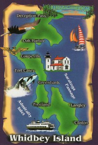 General map of Whidbey Island