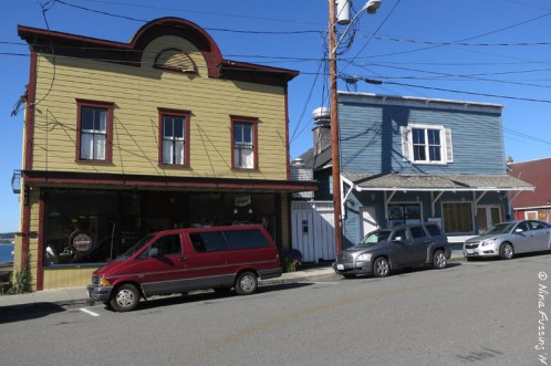 Old wooden buildings in Coupeville