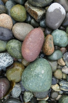 Colorful rocks at Agate Beach