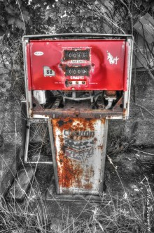 An abandoned pump at Historic Richardson