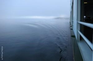 Foggy ferry ride home....