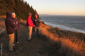 "Chris, Clark, Elaine & Paul chat at our ""sunset"" spot"