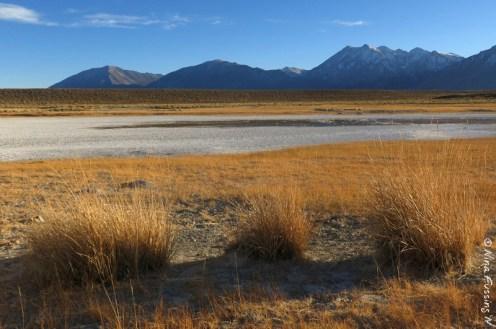 Stark, dry valley views
