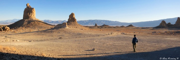Morning walk amongst the giants at Trona Pinnacles, CA