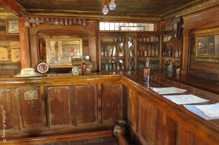 The old saloon with {{gasp}} a ghostly presence in the mirror???!!