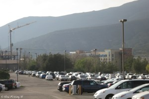 View along the main parking lot (~1/4 mile from us) towards the Casino