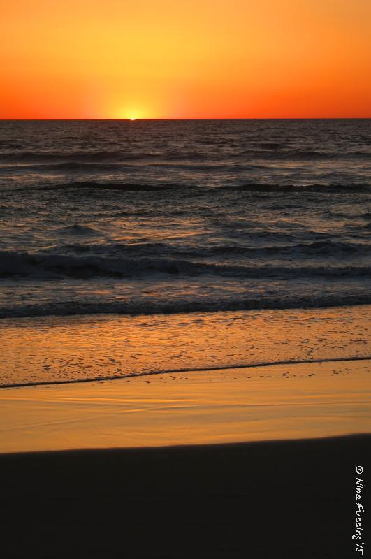 Warm sunset at Mission Beach