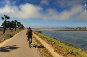 Biking into some fog at Ocean Beach