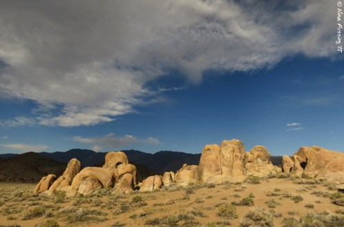 Rocks, clouds and light