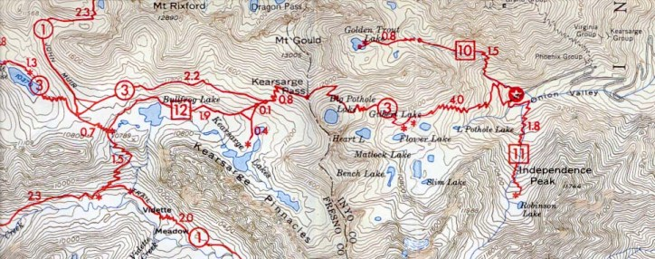 Onion Valley Hiking Map