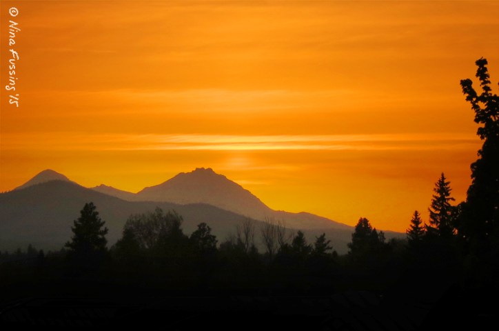 The sunset at Crux is one of the best in Bend