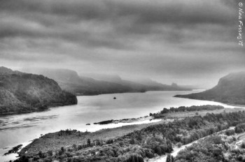 Grey views of the Gorge from VIita House