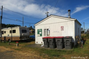 View of main office. This is often closed. The park manager is usually in his trailer site 26.