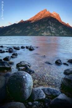 Jenny Lake at sunrise. No reflections, but it was still pretty darn magica