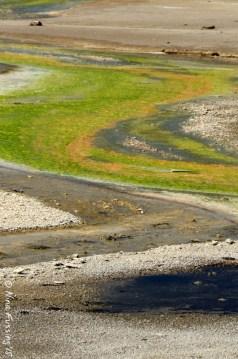Colorful swirls in Norris Basin