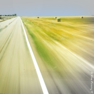 Sometimes the road morphs into a hypnotic blur