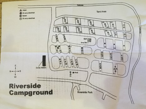 Riverside Campground Map