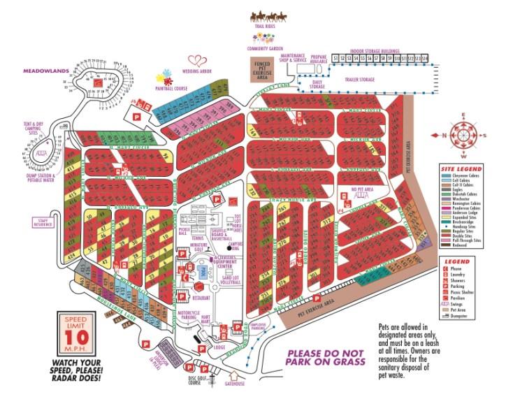 Park map (from hartranchresort.com)