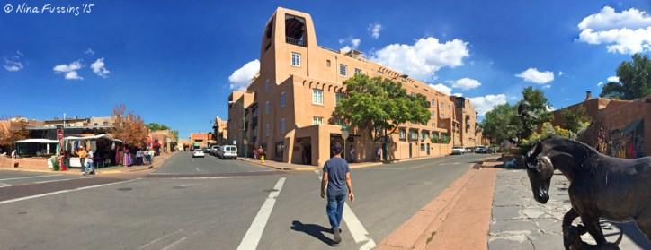 Adobe and art, quintessential downtown Santa Fe