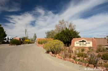 Entrance to Santa Fe Skies RV Park