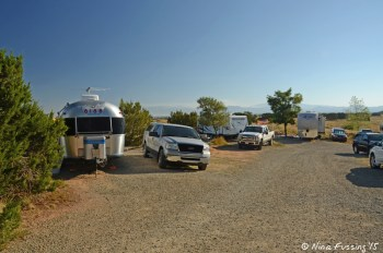 View towards end of Yucca area. Airstream in site #24 on left, with #23 behind it.