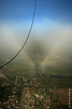 Balloon cloud shadow