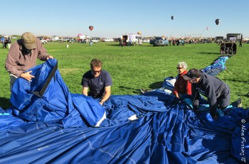 Deflating an apartment-sized whale is hard work!