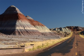 """Deserted roads and painters mounds by """"The Teepees"""""""