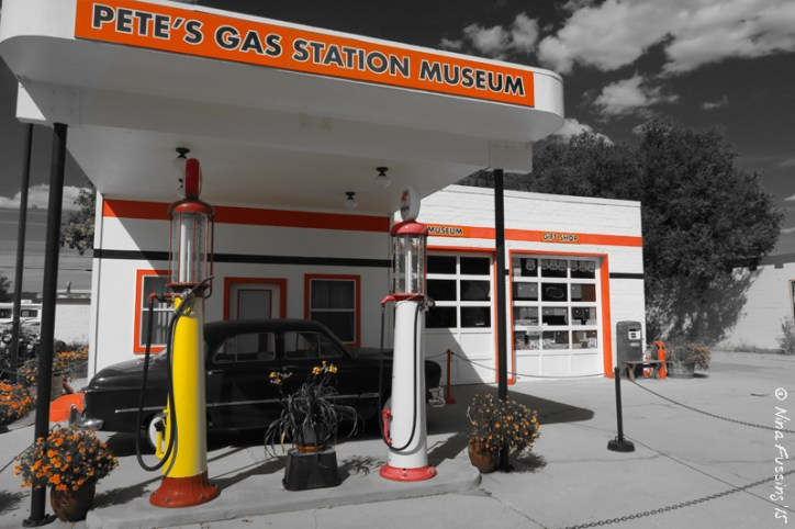Pete's Garage is a classically restored downtown gas station