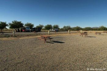 View to the right side of our site. Site #107-#111, all empty.