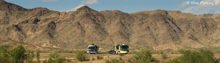 Taking Paul's dad and Ana boondocking for the first time in Quartzsite, AZ in November