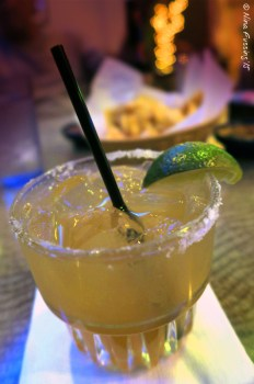 Blue Coyote margarita. It packs a punch.